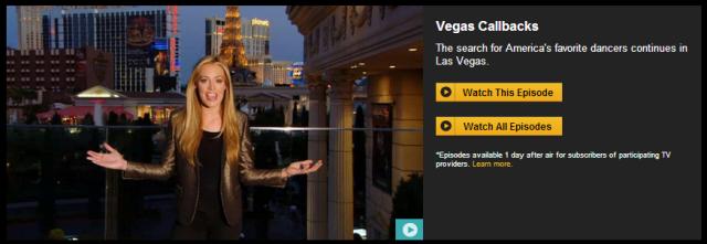 Vegas Week on SYTYCD