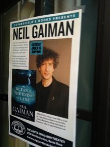 Neil Gaiman event poster